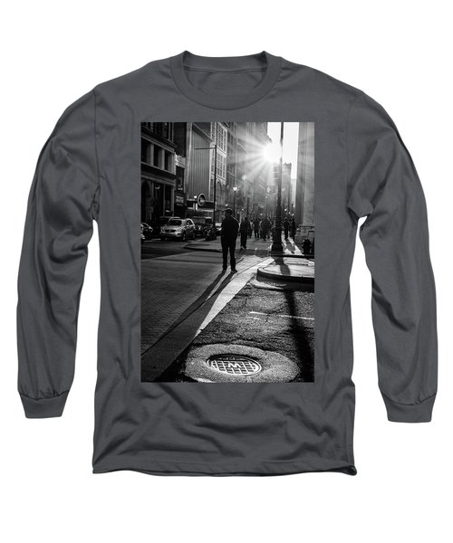 Philadelphia Street Photography - 0943 Long Sleeve T-Shirt by David Sutton