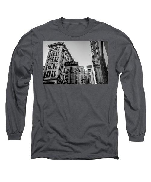 Philadelphia Urban Landscape - 0980 Long Sleeve T-Shirt by David Sutton