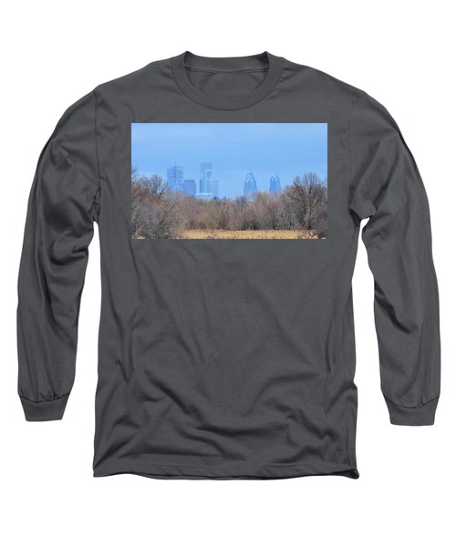 Philly From Afar Long Sleeve T-Shirt by Kathy Eickenberg