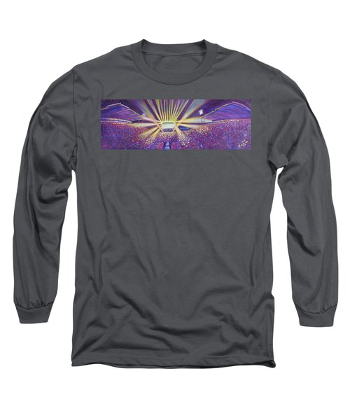 Long Sleeve T-Shirt featuring the painting Phish At Dicks 2016 by David Sockrider
