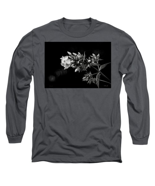 Phlox In Black And White Long Sleeve T-Shirt