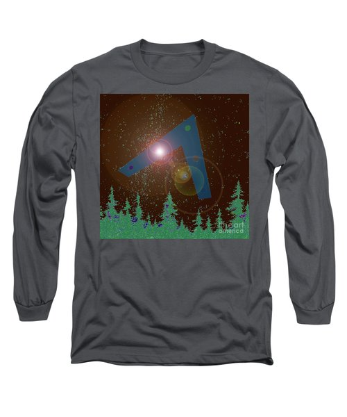 Long Sleeve T-Shirt featuring the painting Phoenix Lights Ufo by James Williamson