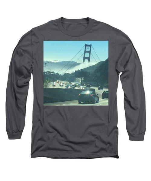 Golden Gate Bridge Collapsing Long Sleeve T-Shirt