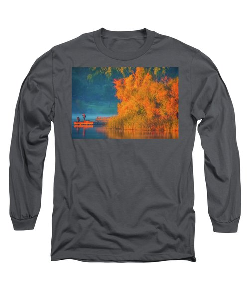 Long Sleeve T-Shirt featuring the photograph Photographing The Sunrise by Marc Crumpler
