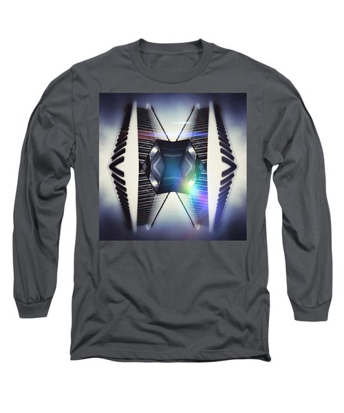 Piano Building Long Sleeve T-Shirt by Jorge Ferreira