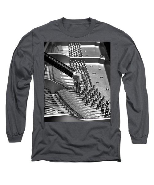 Piano Tuning Bw Long Sleeve T-Shirt