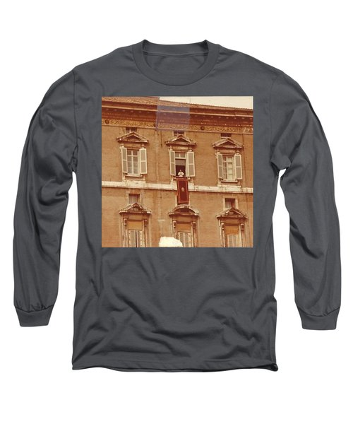 Piazza San Pietro-popes Window Long Sleeve T-Shirt