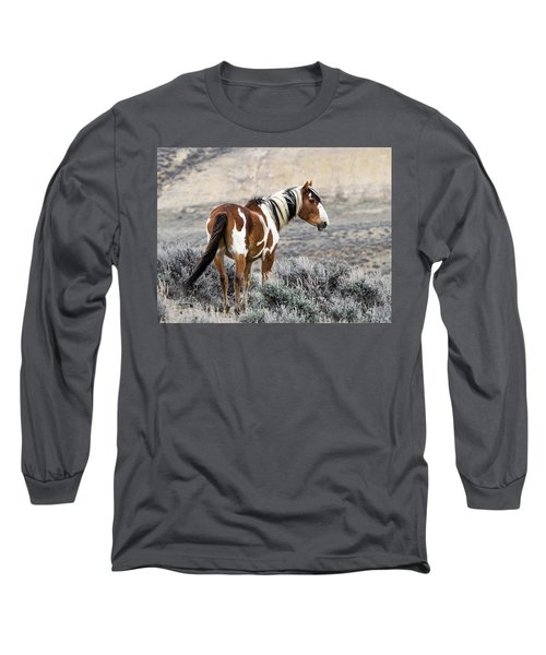 Picasso - Wild Mustang Stallion Of Sand Wash Basin Long Sleeve T-Shirt