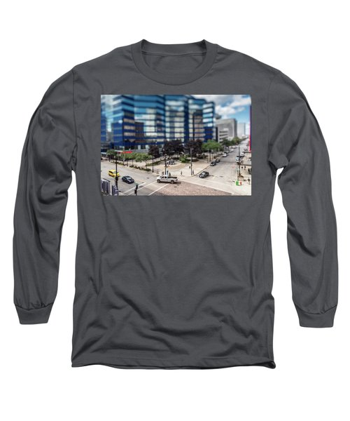Pick-up Truck In The Itty-bitty-city Long Sleeve T-Shirt