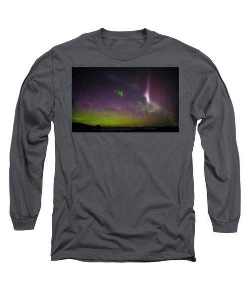 Picket Fences And Proton Arc, Aurora Australis Long Sleeve T-Shirt