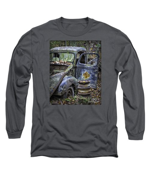 Old Blue Pickup Truck Long Sleeve T-Shirt
