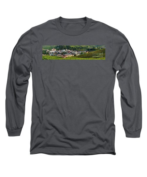 Long Sleeve T-Shirt featuring the photograph Piemonte Panoramic by Brian Jannsen