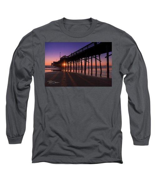 Pier In Purple Long Sleeve T-Shirt