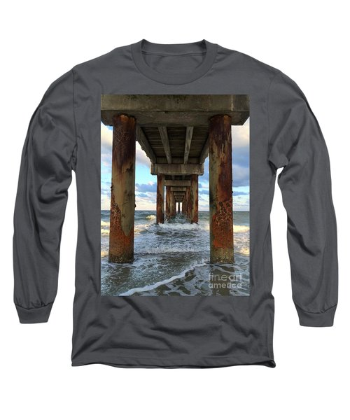 Pier In Strength And Peaceful Serenity Long Sleeve T-Shirt