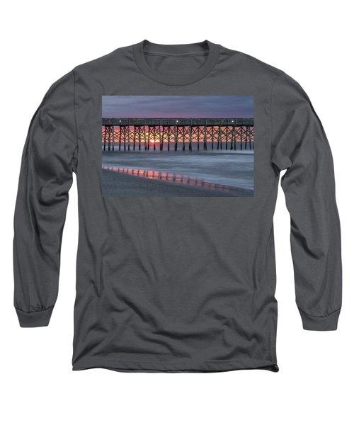 Pier With Sunrise Long Sleeve T-Shirt