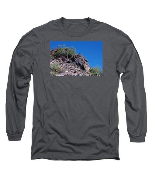 Long Sleeve T-Shirt featuring the photograph Piestewa Peak by Greg Graham