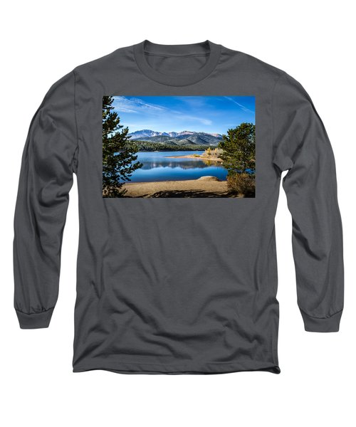 Pikes Peak Over Crystal Lake Long Sleeve T-Shirt