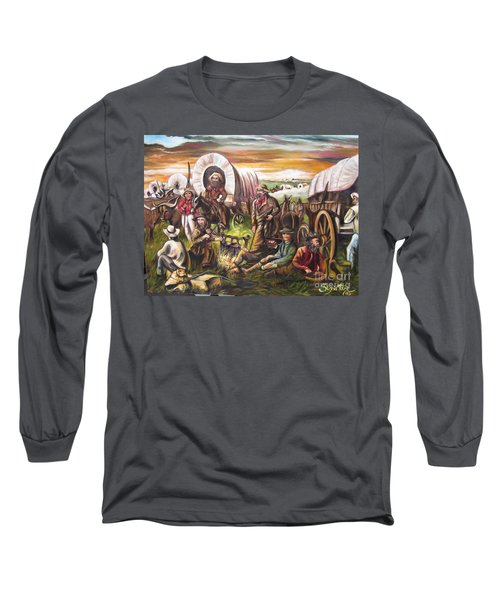 Long Sleeve T-Shirt featuring the painting Pilgrims On The Plain by Sigrid Tune