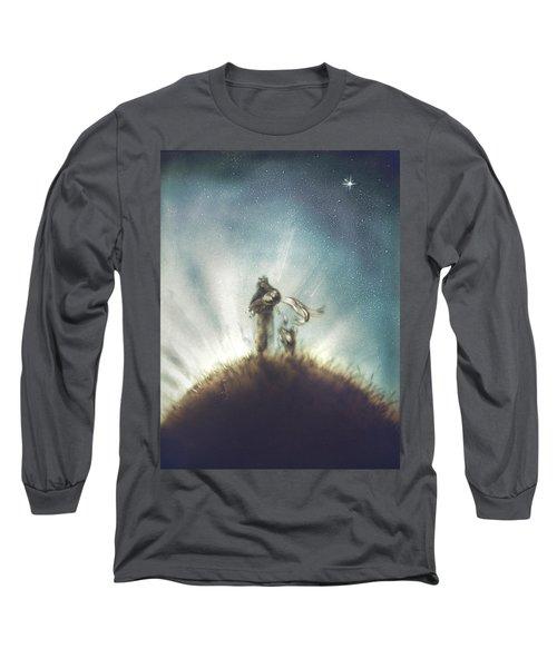 Pilot, Little Prince And Fox Long Sleeve T-Shirt