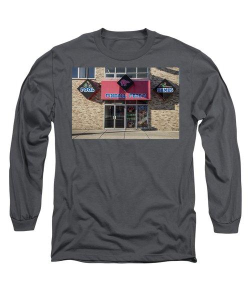 Pinball Pete's East Lansing  Long Sleeve T-Shirt