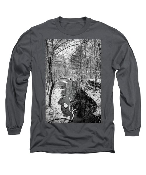 Pine Reflection On The Sheepscot Long Sleeve T-Shirt