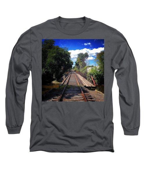 Pine River Railroad Bridge Long Sleeve T-Shirt