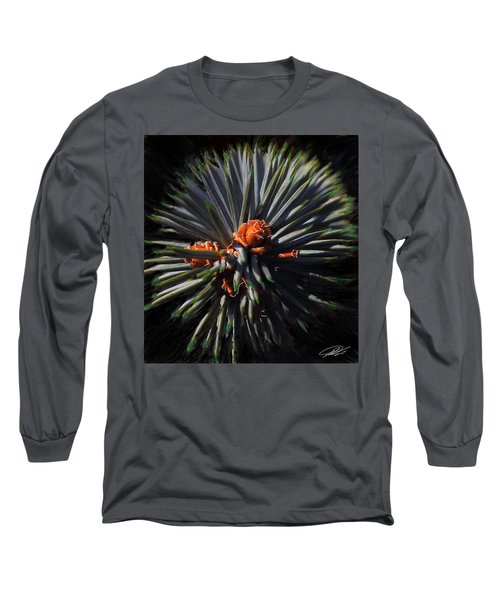 Pine Rose Long Sleeve T-Shirt