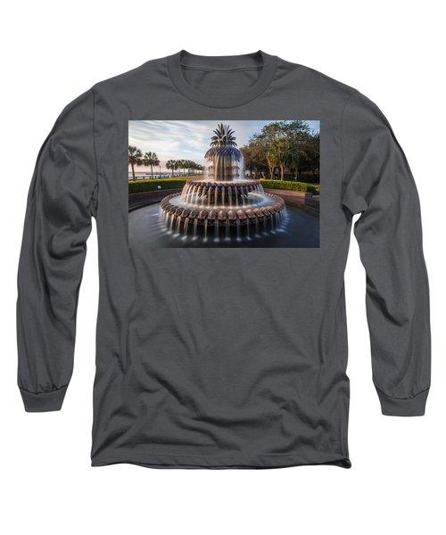 Pineapple Fountain Charleston Sunrise Long Sleeve T-Shirt
