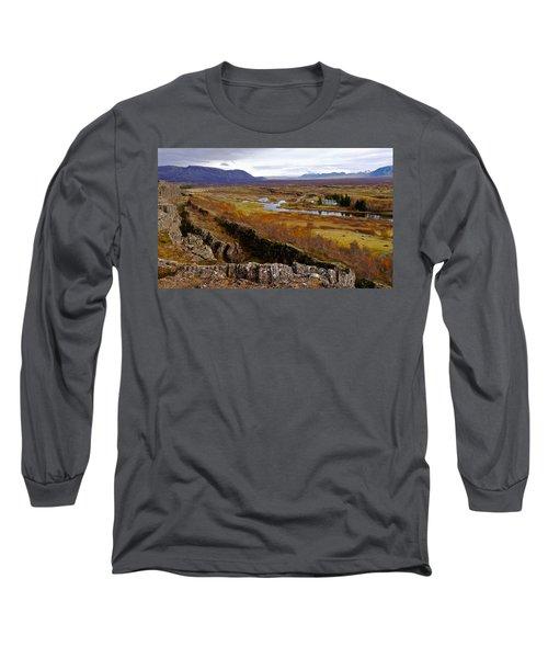 Pingvellir National Park Iceland Long Sleeve T-Shirt