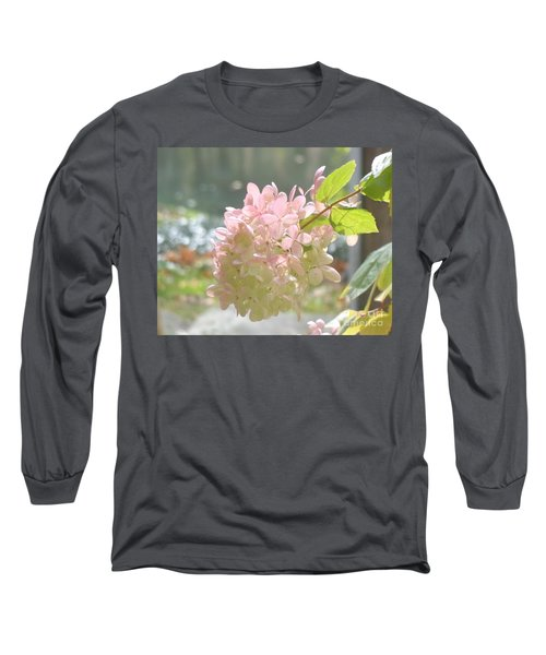 Pink Bloom In Sun Long Sleeve T-Shirt by Christina Verdgeline