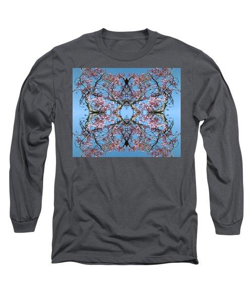 Pink Blossom Mandala Long Sleeve T-Shirt