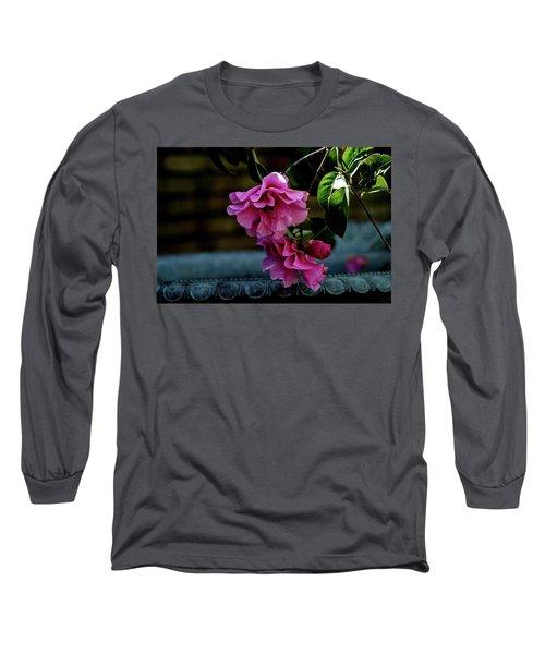 Pink Camellia Long Sleeve T-Shirt