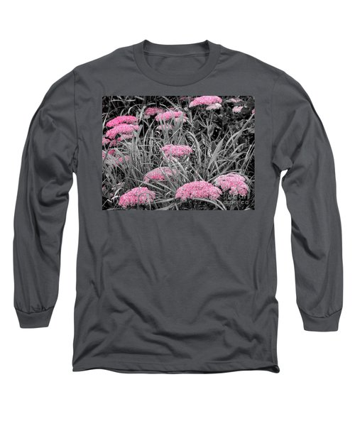 Pink Carved Cowslip Long Sleeve T-Shirt