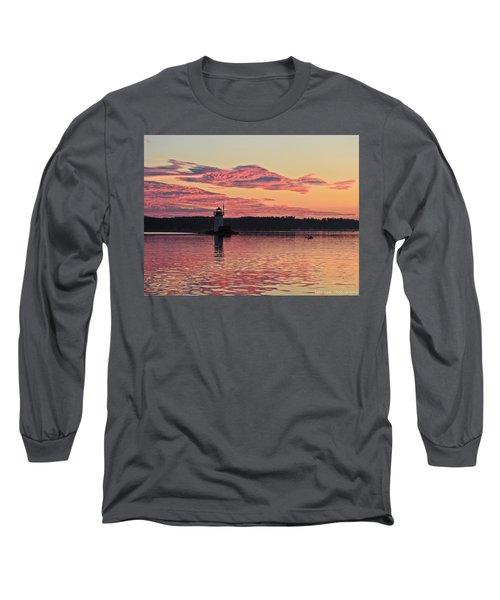 Pink Fire Long Sleeve T-Shirt