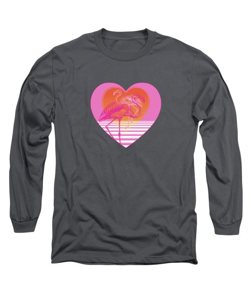 Pink Flamingos Long Sleeve T-Shirt by Eclectic at HeART