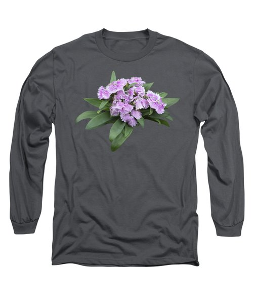 Pink Floral Cutout Long Sleeve T-Shirt by Linda Phelps