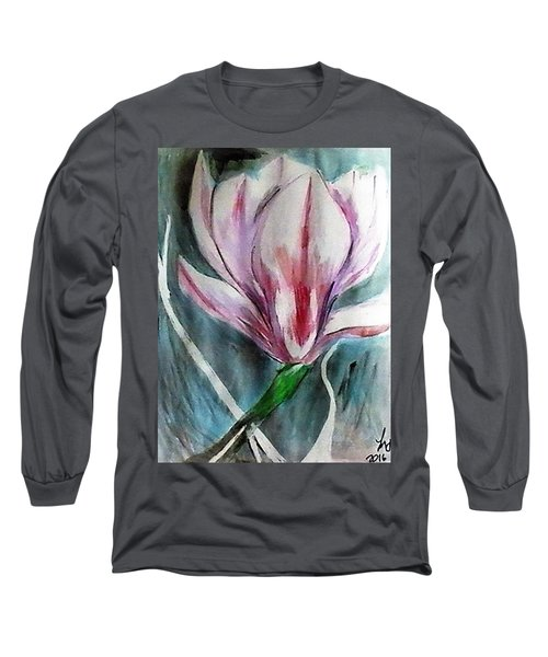 Pink Magnolia Long Sleeve T-Shirt by Loretta Nash