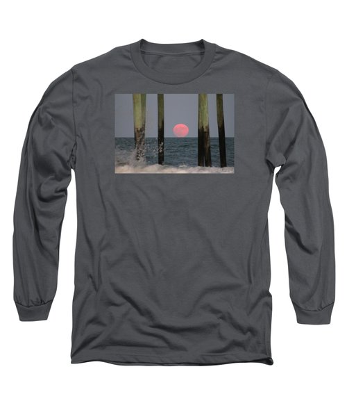 Pink Moon Rising Long Sleeve T-Shirt