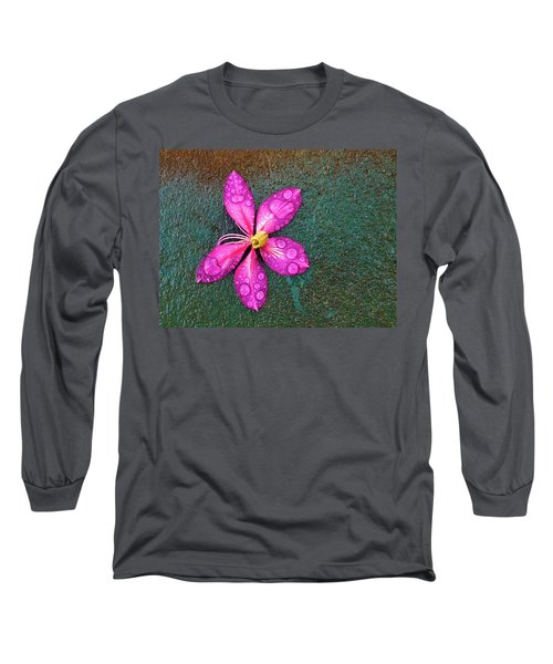 Pink Orchid Flower Long Sleeve T-Shirt