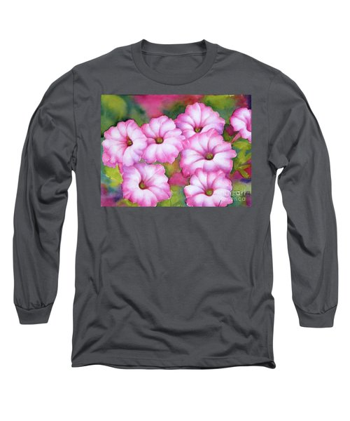 Pink Petunias Long Sleeve T-Shirt