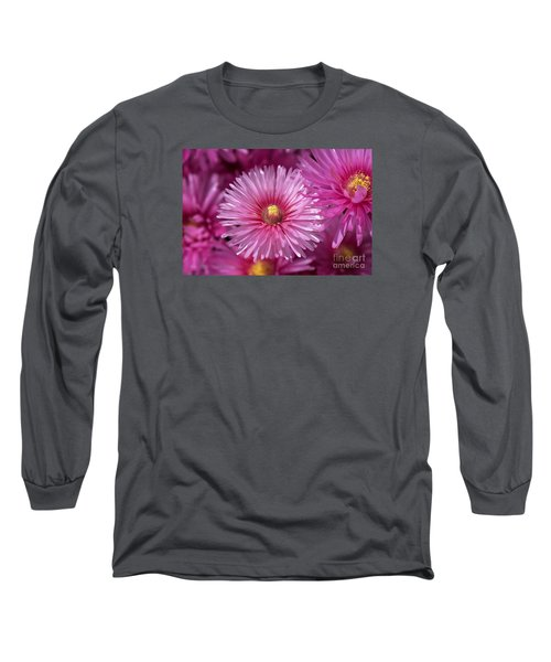 Pink Pigface Flowers Long Sleeve T-Shirt