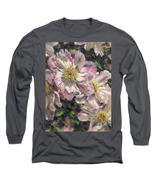 Pink Single Peonies Long Sleeve T-Shirt