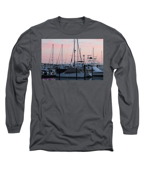 Pink Skies Long Sleeve T-Shirt by Nance Larson