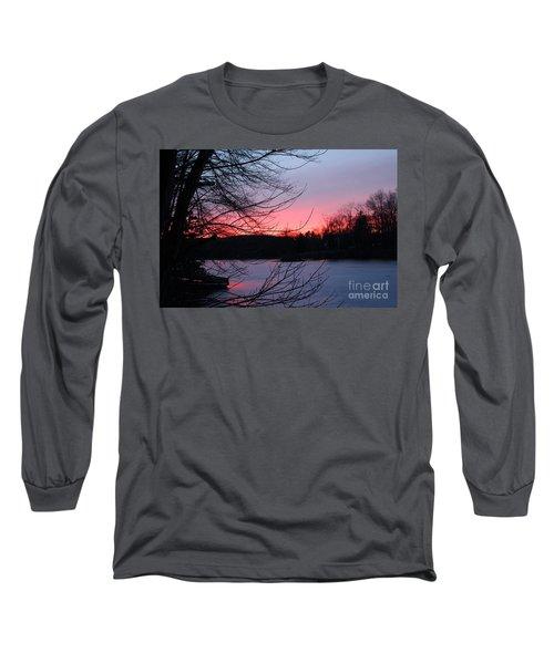 Pink Sky At Night Long Sleeve T-Shirt by Jason Nicholas