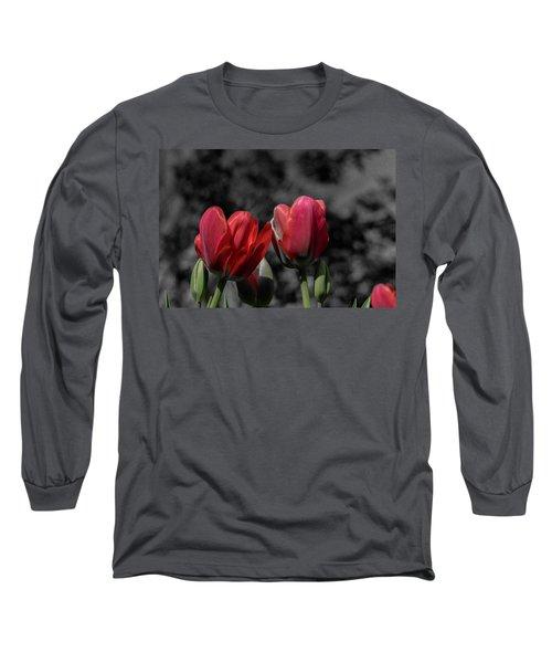 Pink Tulip Pop Long Sleeve T-Shirt