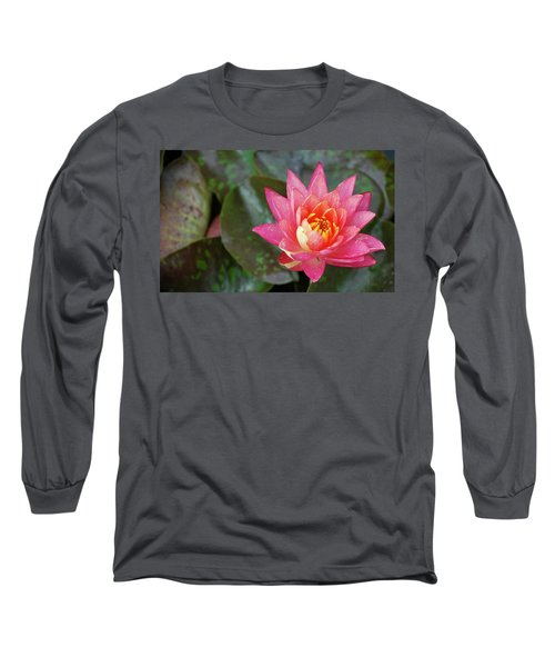 Pink Water Lily Beauty Long Sleeve T-Shirt