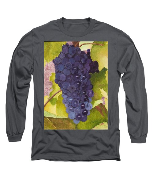 Pinot Noir Ready For Harvest Long Sleeve T-Shirt by Mike Robles