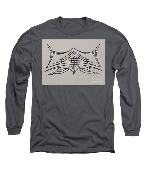 Pinstripe Black On White Long Sleeve T-Shirt