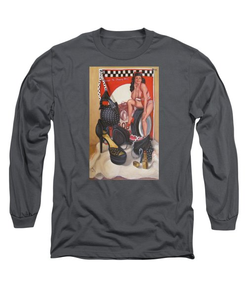 Pinup #1 Long Sleeve T-Shirt by Donelli  DiMaria