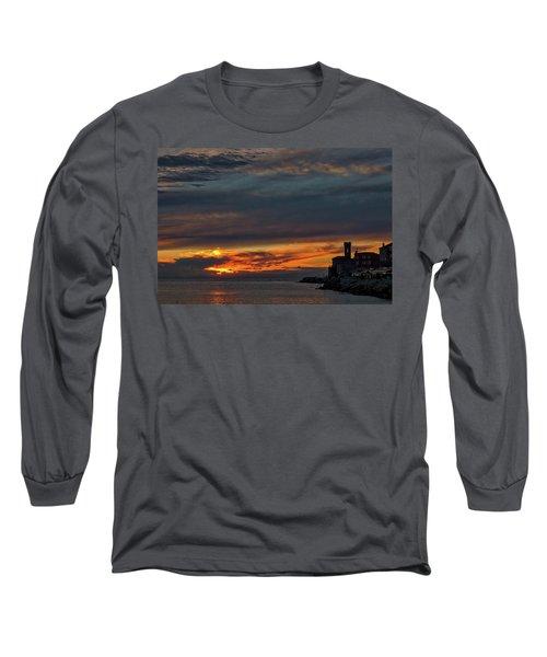 Long Sleeve T-Shirt featuring the photograph Piran Slovenia Sunset #2 by Stuart Litoff